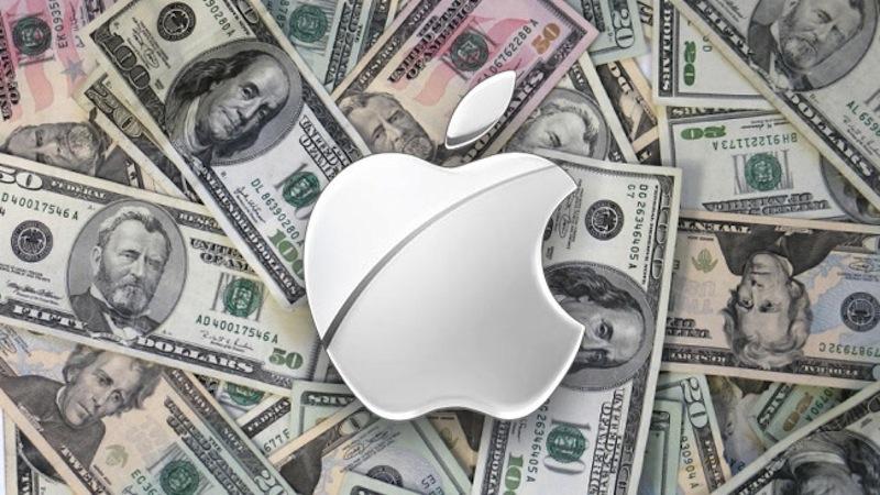 Интересные факты об Apple - логотип на фоне денег