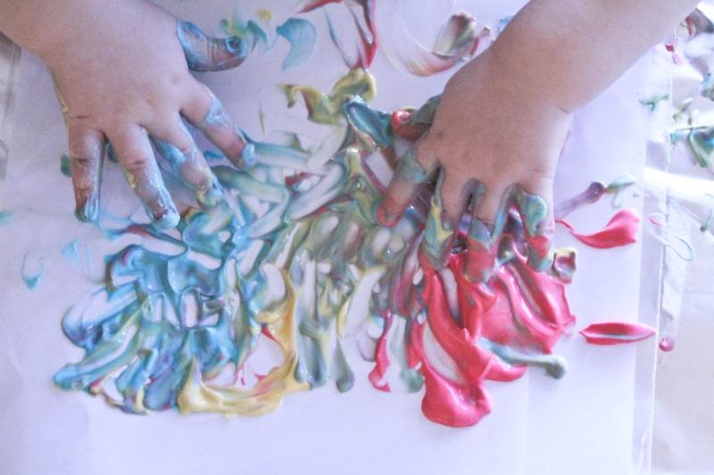 Йогурт - краски для детского творчества