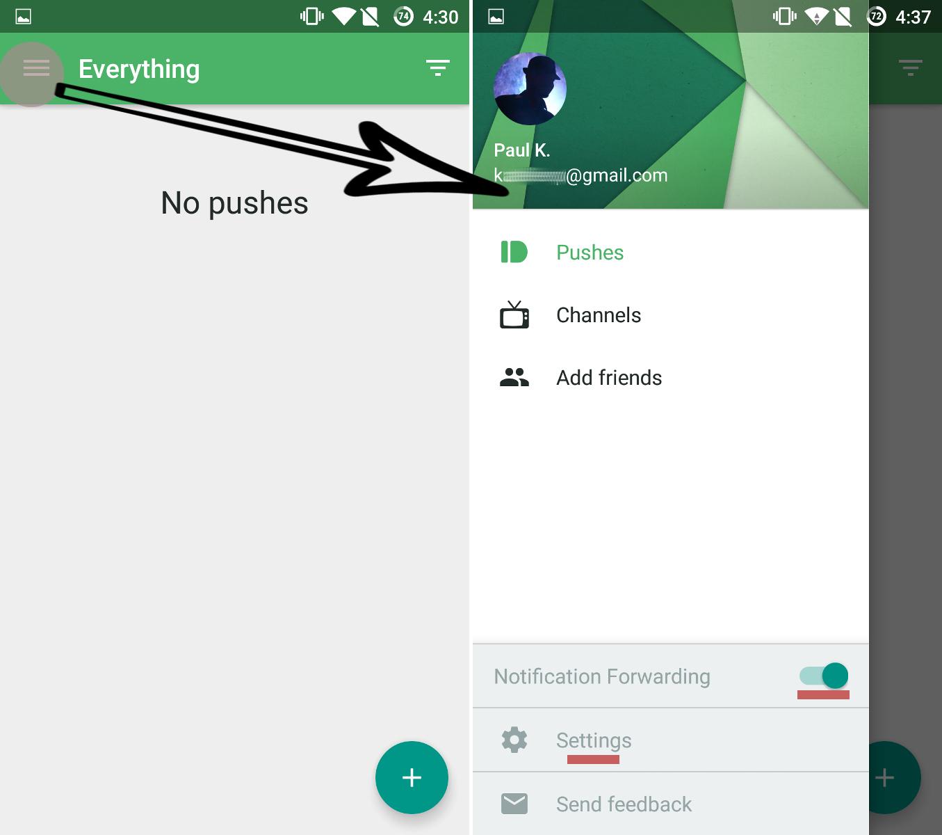 Как перенаправить текстовые уведомления и звонки с Вашего Android-устройства на ПК - откройте настройки