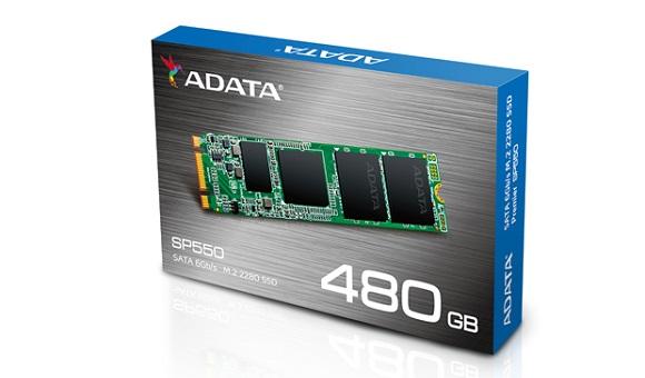 Компания ADATA представила SSD-накопитель Premier SP550 формата M.2 2280 SATA!