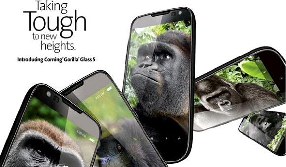 Компания Corning анонсировала стекло Gorilla Glass 5 с повышенной степенью защиты при падении!