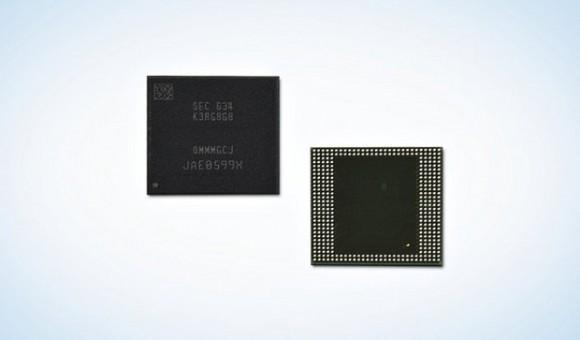 Компания Samsung выпустила первый мобильный DRAM-модуль с 8 ГБ памяти LPDDR4