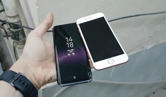 Краш-тест смартфонов Samsung Galaxy S8 и iPhone 7
