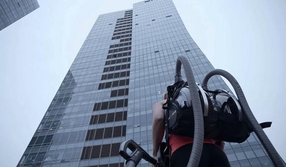 Пылесос LG CORDZERO™ ‒ покорение высот офисного здания