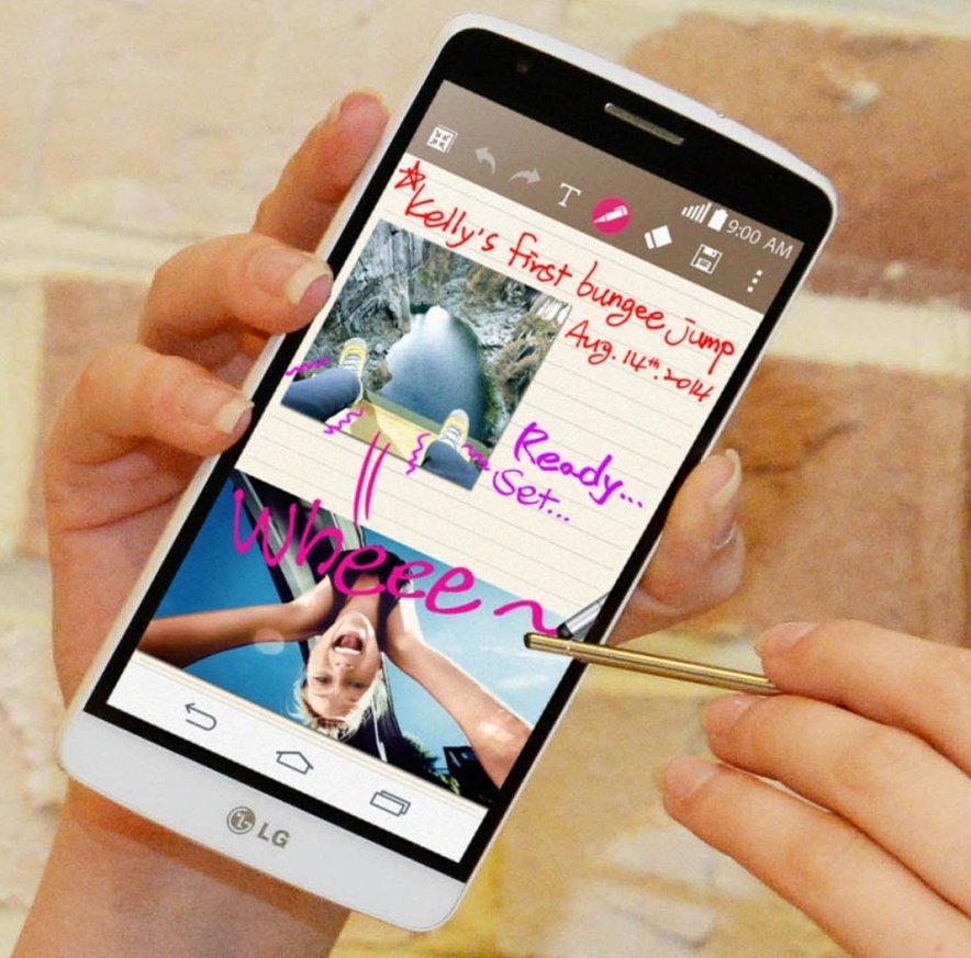 LG G3 Stylus-поддержка стилуса