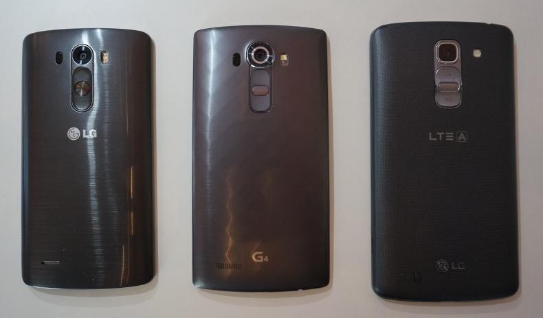 LG G3 vs G4  vs G Pro 2-сравнение задние панели