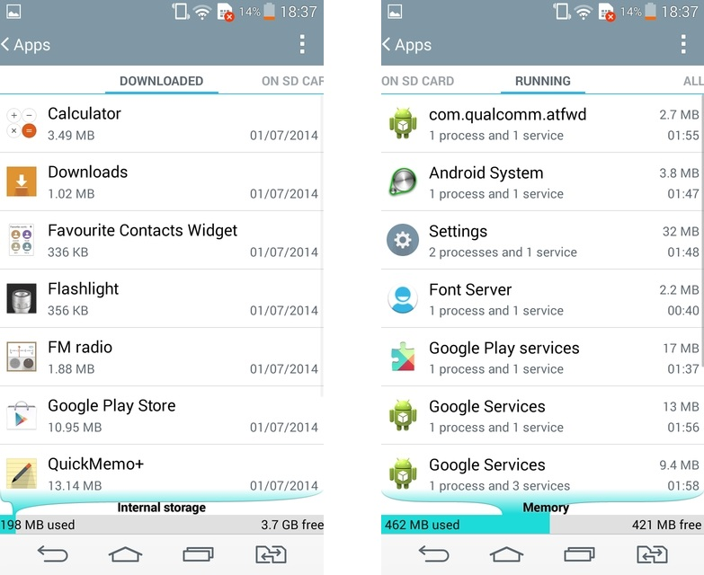 LG G3s Dual D724- Apps
