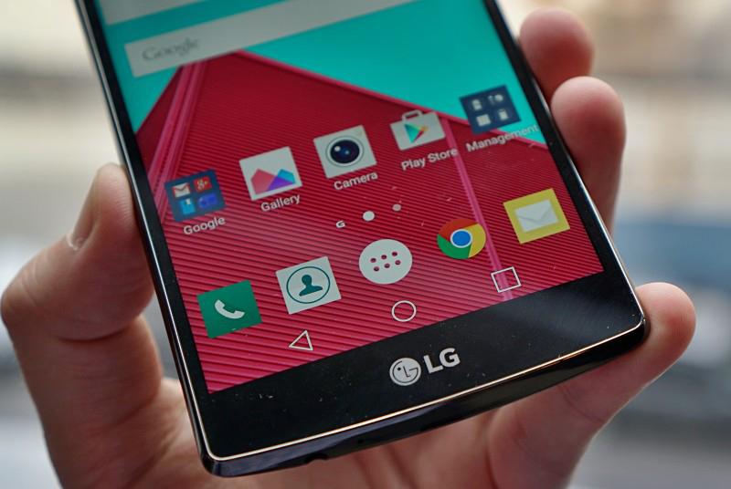 LG G4-экран крупным планом