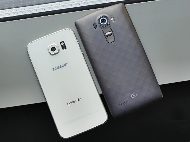 LG G4 vs Samsung Galaxy S6-сравнение задние панели