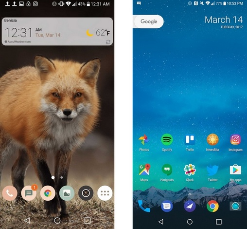 LG G6-интерфейс скриншот