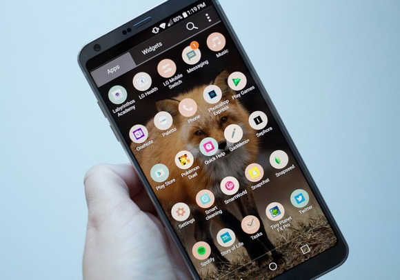 LG G6-интерфейс