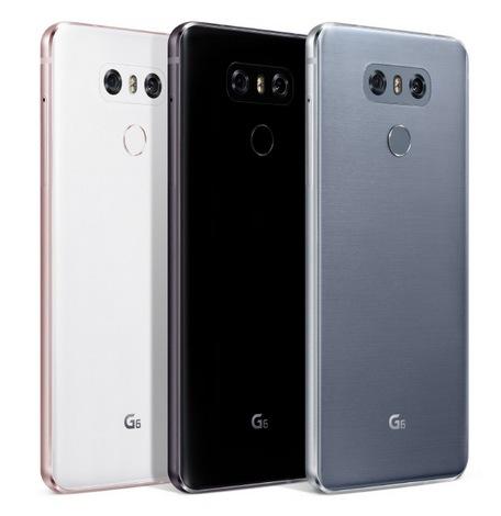 LG G6-расцветки смартфона задняя панель