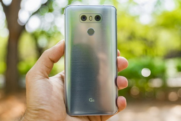 LG G6-задняя панель сдвоенные тыловые камеры и вспышка