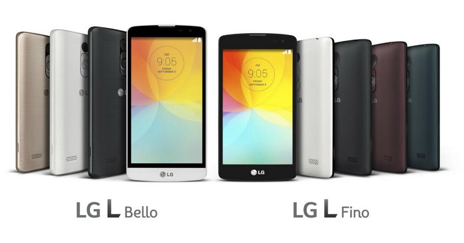 LG L Bello и L Fino-ракурсы