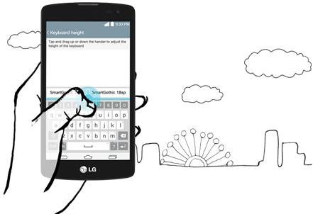 LG L Fino Dual D295 - Умная клавиатура