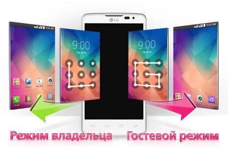 LG L60 Dual X135 Белый-гостевой режим