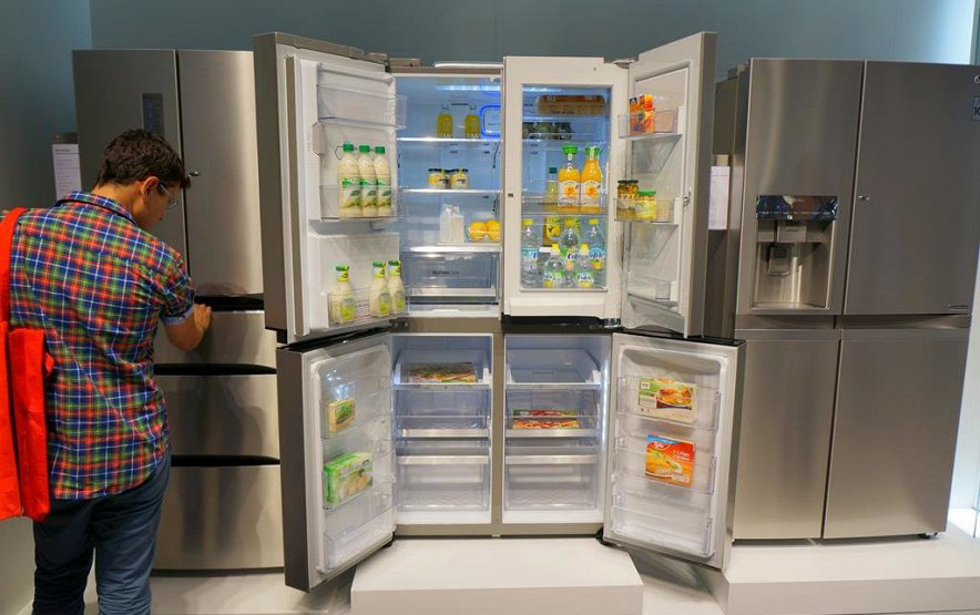 LG-новые холодильники фото с выставки