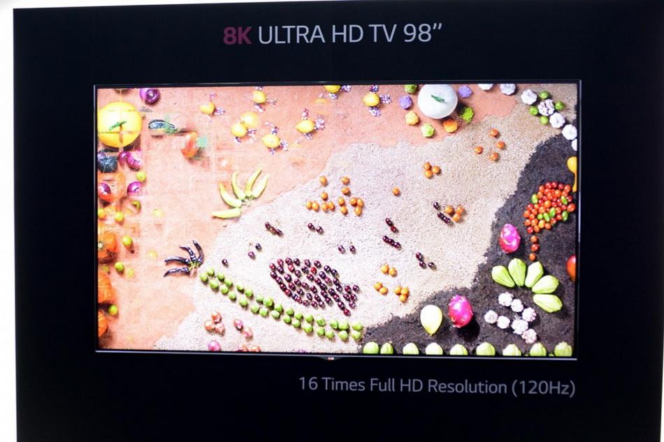 LG-телевизор с 8k-разрешением презентация
