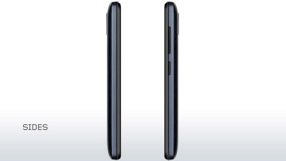 Lenovo A328 Dark Blue-интерфейсы левая и правая боковые грани