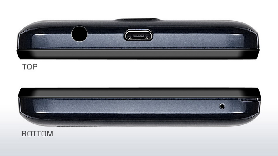 Lenovo A328 Dark Blue-интерфейсы нижний и верхний торцы