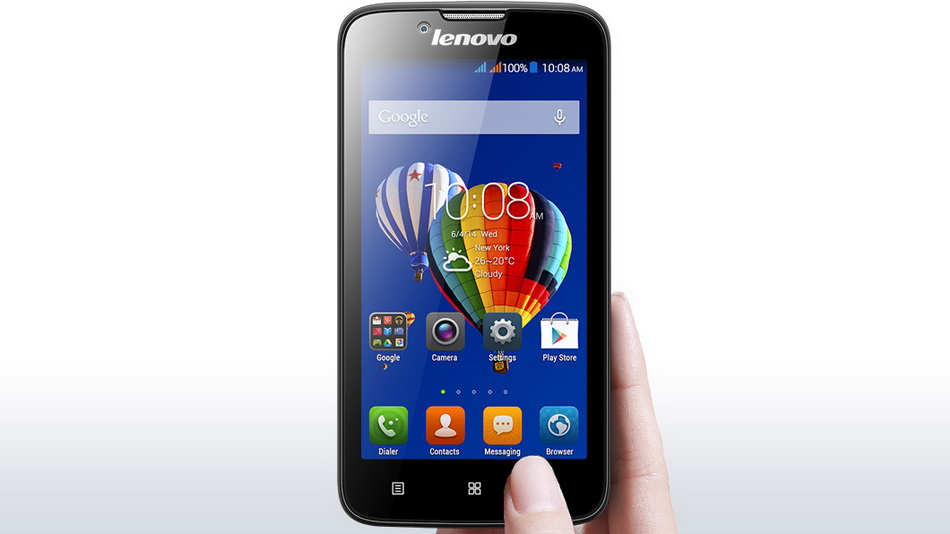 Lenovo A328 Dark Blue-в руках