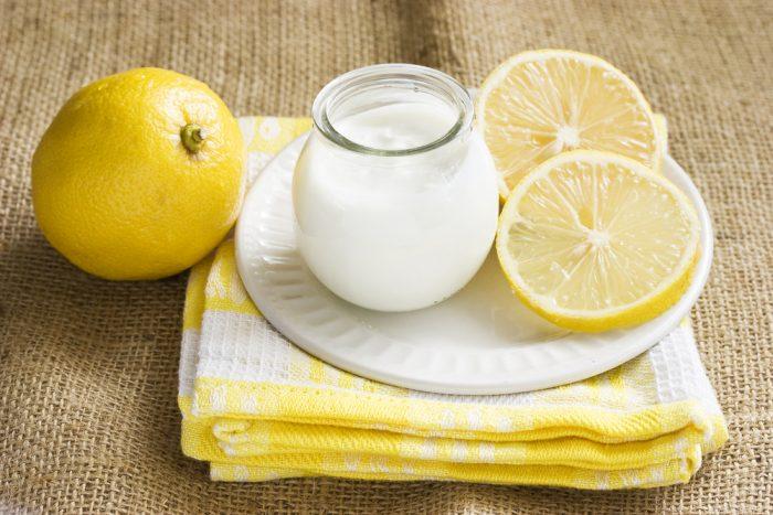 Маска йогурт-лимон, для отбеливания веснушек