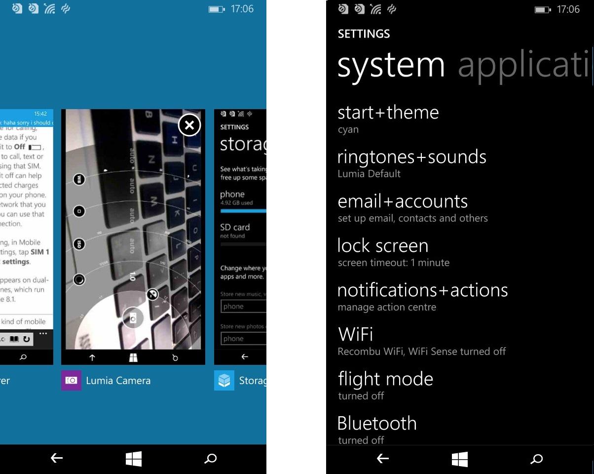 Microsoft Lumia 535-скриншот Интерфейс