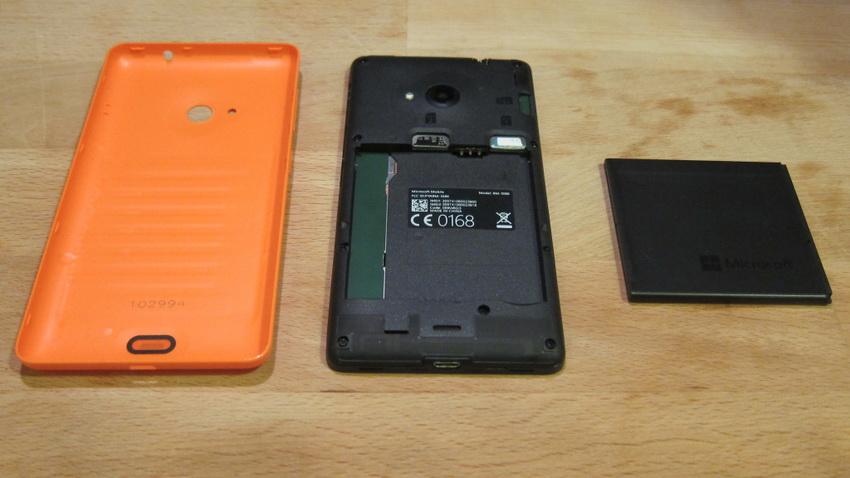 Microsoft Lumia 535 Orange-В разобранном виде