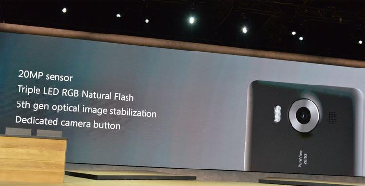 Microsoft Lumia 950- Основная камера
