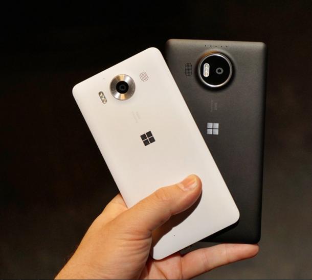 Microsoft Lumia 950 vs Lumia 950 XL- Сравнение Задние панели