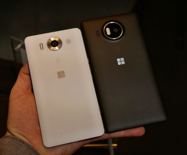 Microsoft Lumia 950 vs Lumia 950 XL-Задние панели