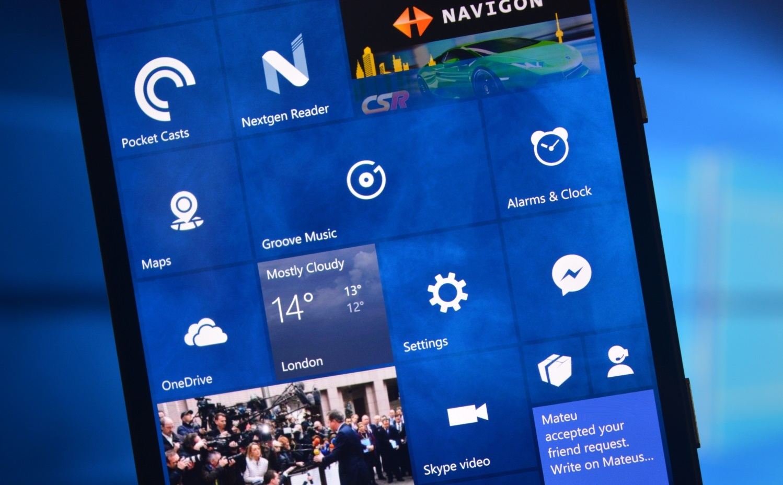 Microsoft Windows 10 интерфейс