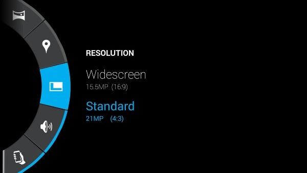 Motorola DROID Turbo - интерфейс камеры