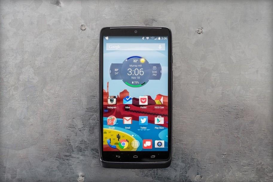 Motorola DROID Turbo - вид спереди