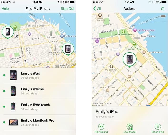 Найти iPhone- скриншот