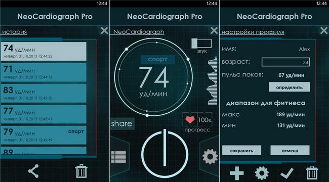 NeoCardiograph-функционал