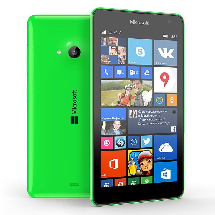 Nokia Lumia 535 Green-Два ракурса