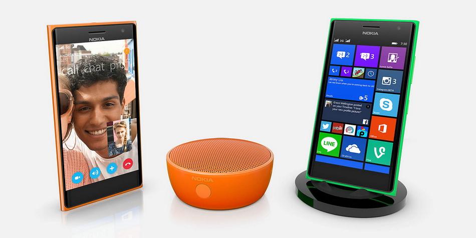 Nokia Lumia 730-с аксессуарами