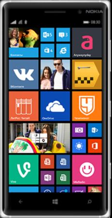 Nokia Lumia 830 - лицевая часть