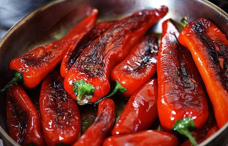 Обжаренный красный сладкий перец