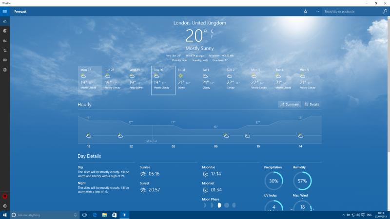 Скачать бесплатно приложение погода для виндовс 8