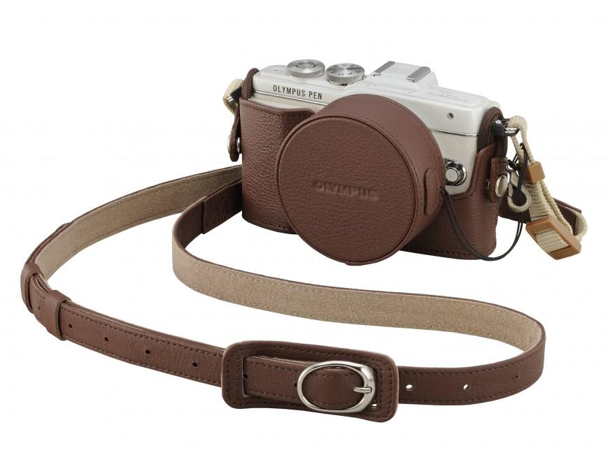 Olympus PEN E-PL7-беззеркальная фотокамера для селфи в чехле