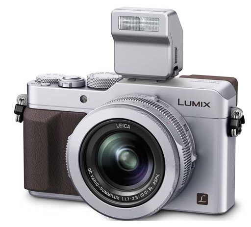 Panasonic Lumix DMC-LX100 white-вид спереди