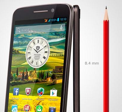Prestigio MultiPhone 7600 Dual Sim grey-дизайн