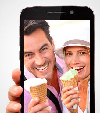 Prestigio MultiPhone 7600 Dual Sim grey-фронтальная камера