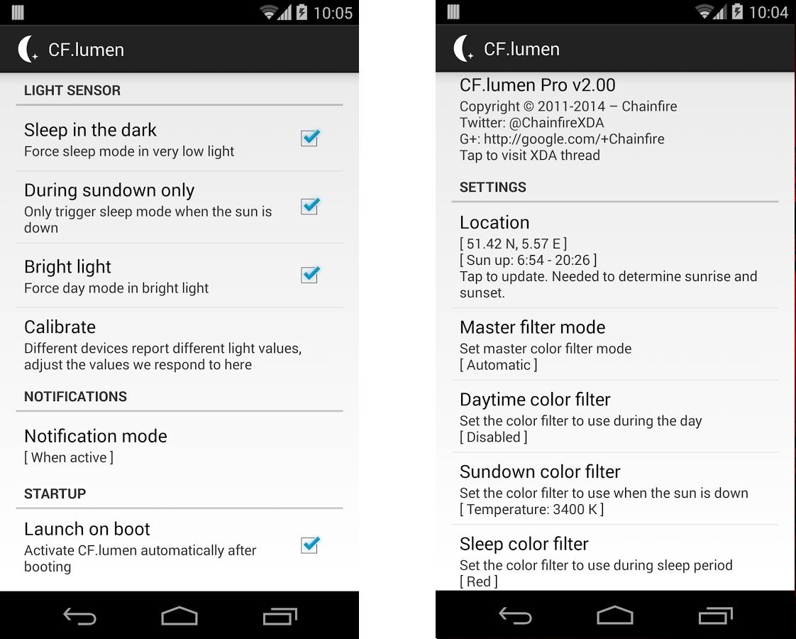 Приложения для Android - CF.lumen