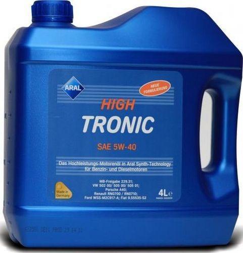 Рейтинг моторных масел экспертное мнение - Aral High Tronic 5W-40