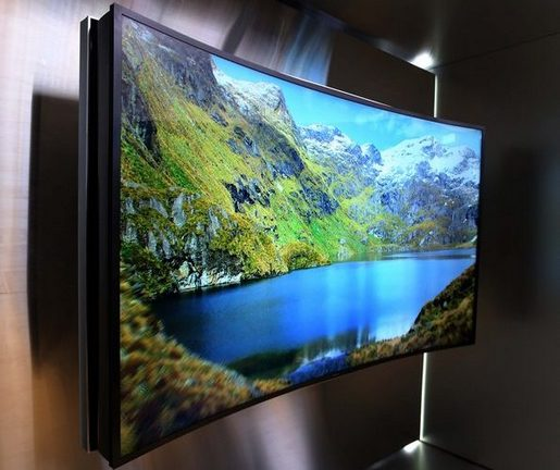 Samsung Curved TV - Выгнутый экран 3