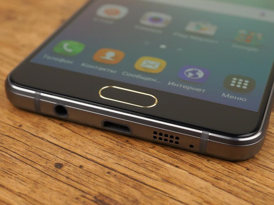 Samsung Galaxy A5 (2016)-эргономика нижний торец