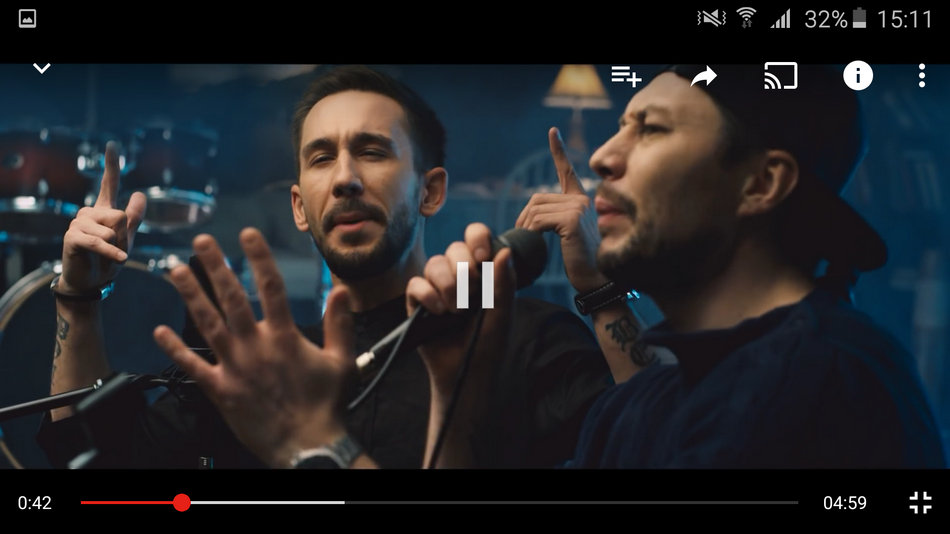 Samsung Galaxy A5 (2016)-проигрывание видео скриншот